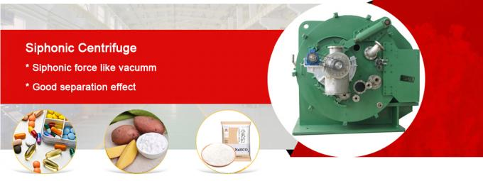 Automatic Starch Siphonic Scraper Centrifugal Filter Centrifuge 1550 Rpm Drum Speed