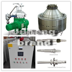 Compact Industrial Centrifuge Disc Oil Separator for animal Oil , With Food Grade Stainless Steel Material