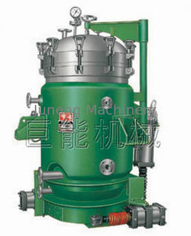 Plate type hermetic Vertical Pressure 0.1-0.4 Mpa Leaf discharge separator Filters